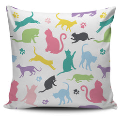 Colourful Cats Pillow Case
