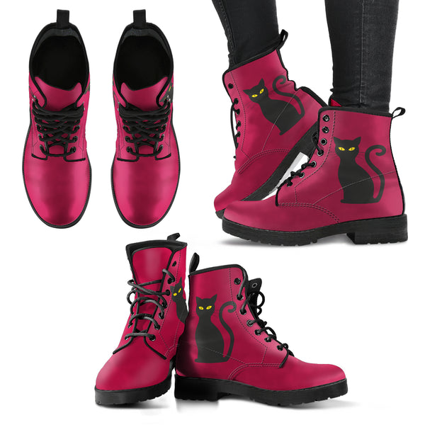 Deep Pink Cat Boot