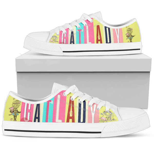 Elegant Cat Lady Low Top Shoe image 1