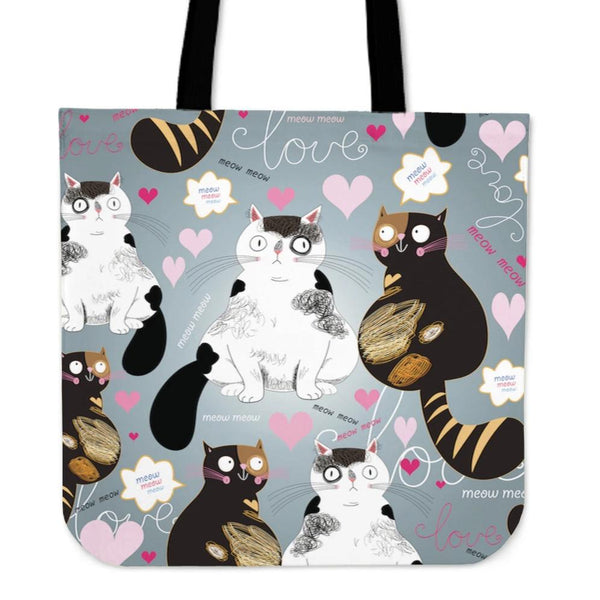 Two Cute Cats Cloth Tote Bag