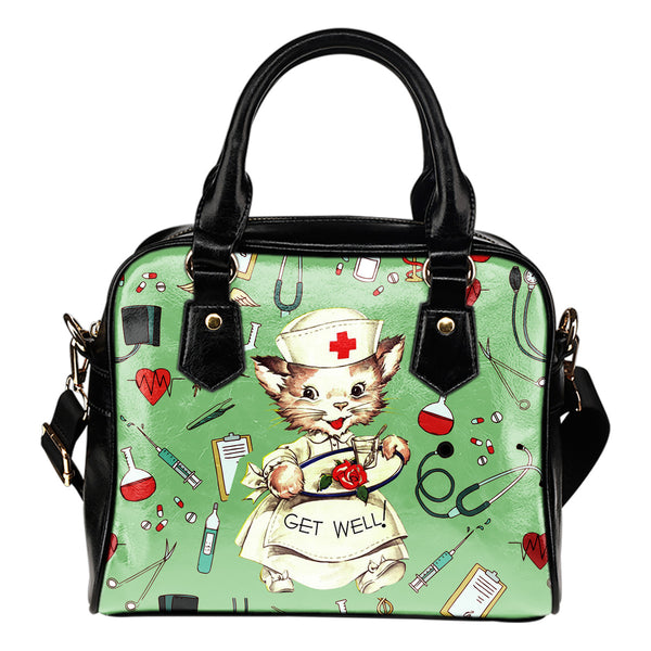 Lovely Nurse Cat Shoulder Handbag