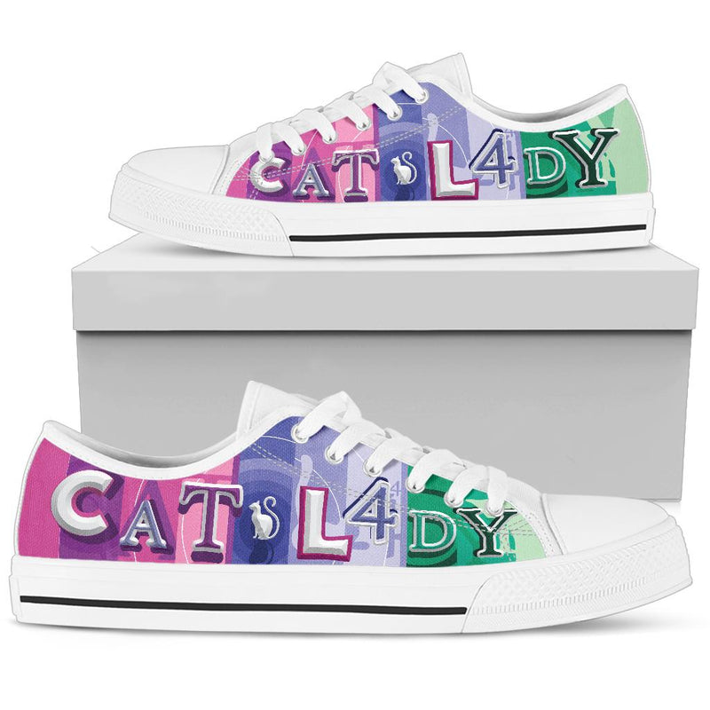 Colorful Cat Lady Low Top Cat Shoe image 1