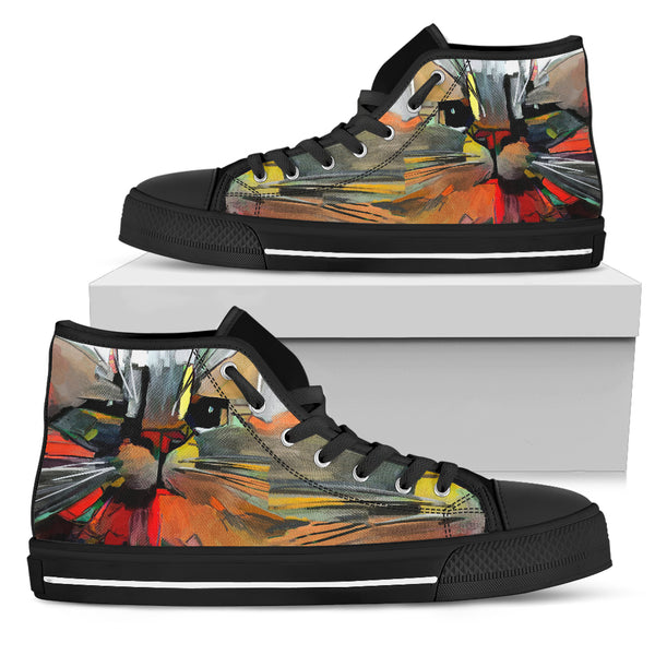 Stylish Cat Women's High Top Shoe