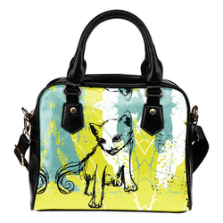 Stylish Grunge Cat Shoulder Handbag