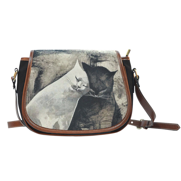 Two Cat Cuddles Saddle Bag