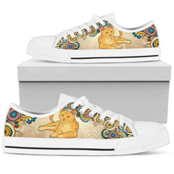 White Cat Meow Women's Low Top Shoe