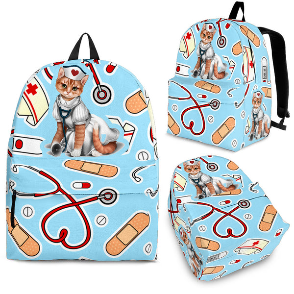 Cute Cat Nurse Backpack