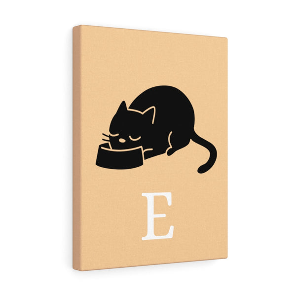 Cat Eating Canvas MEOW - E part 1