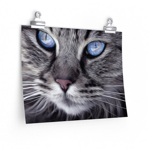 Light Blue Cat Eyes Poster 2