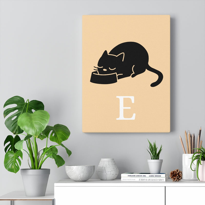 Cat Eating Canvas MEOW - E part 2