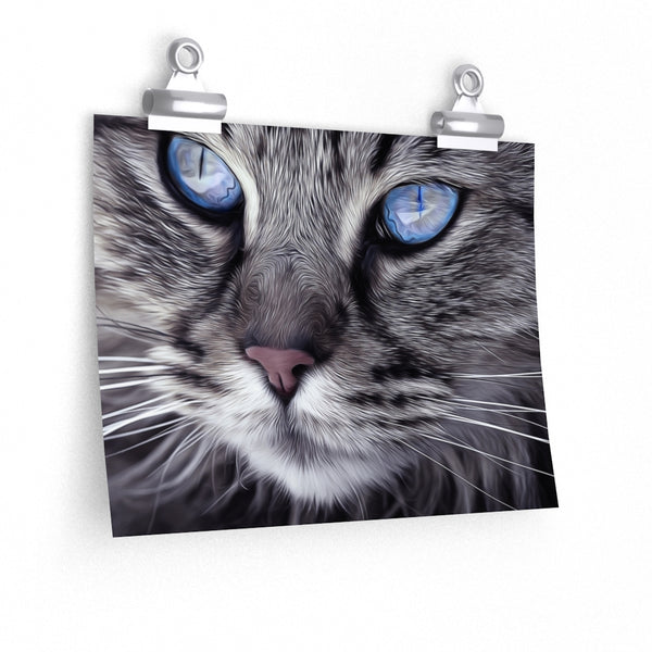 Light Blue Cat Eyes Poster 1