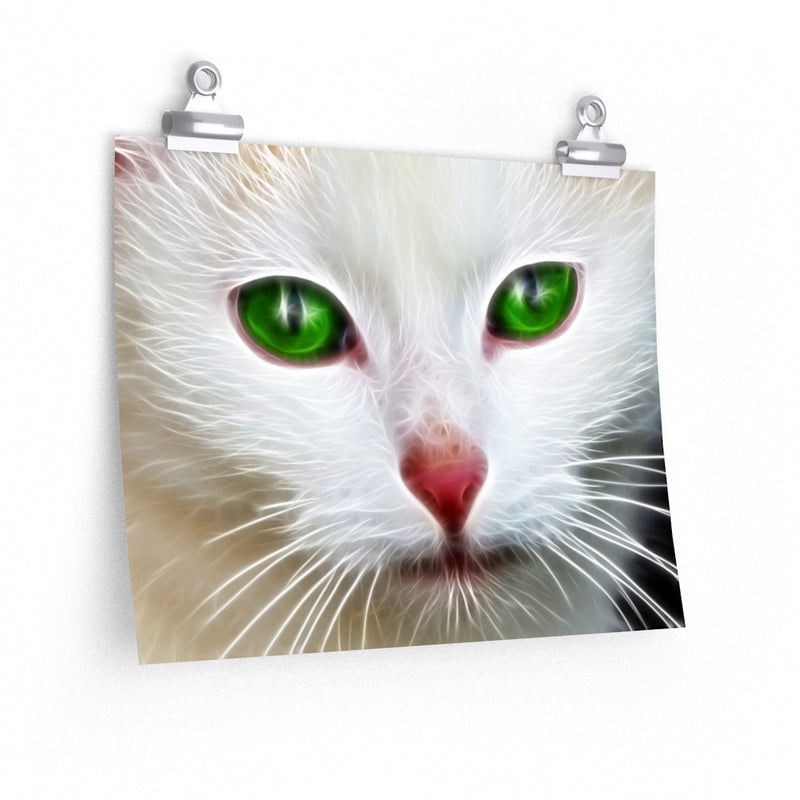 Green White Cat Eyes Poster 2