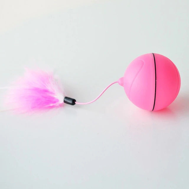 Electric Rolling Ball Cat Toys - Rose Colour