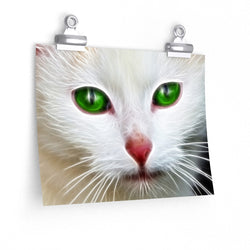 Green White Cat Eyes Poster 1