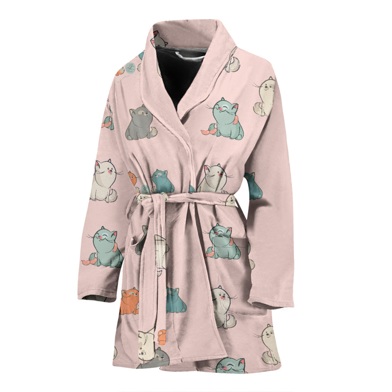 Plump Cat Women's Bath Robe - image 1