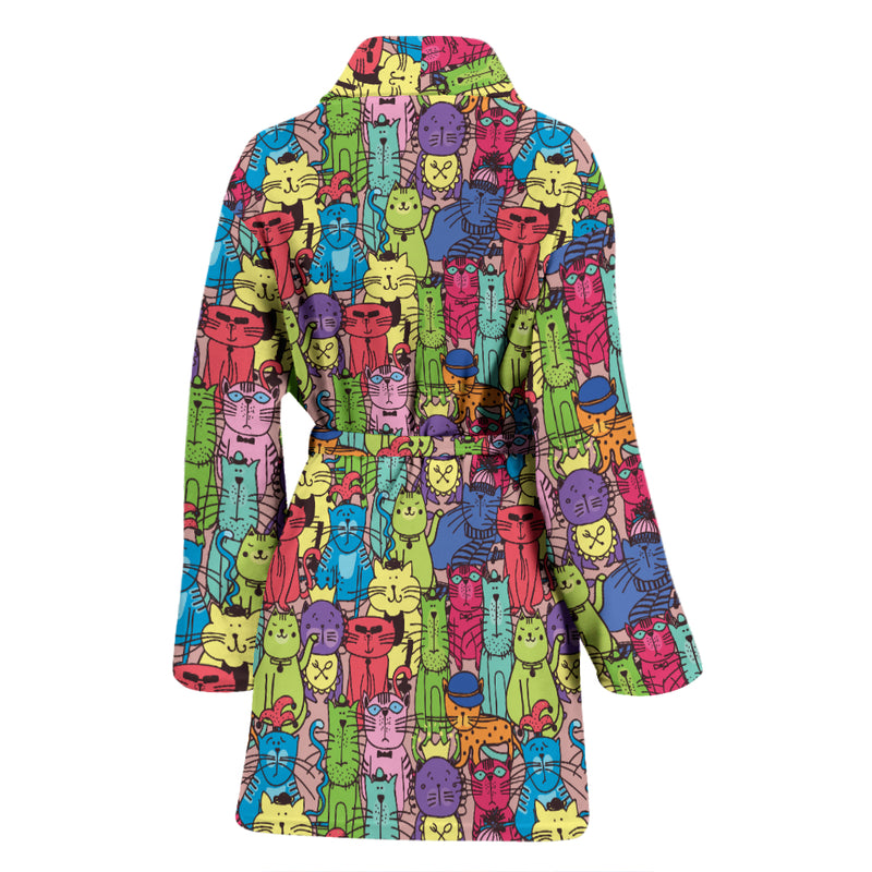 Cartoon Cat Women's Bath Robe 2