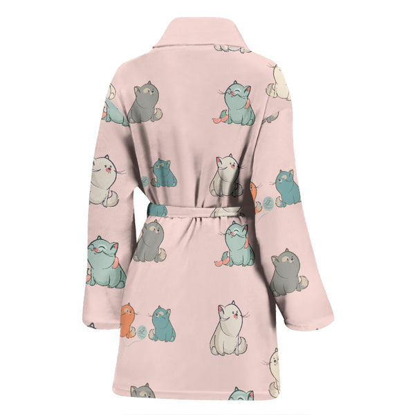 Plump Cat Women's Bath Robe - image 2