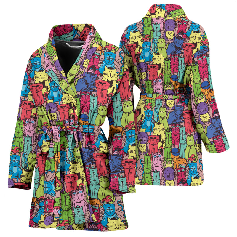 Cartoon Cat Women's Bath Robe 3