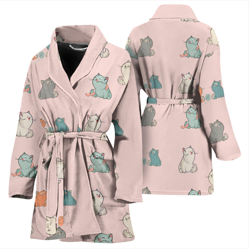 Plump Cat Women's Bath Robe - image 3