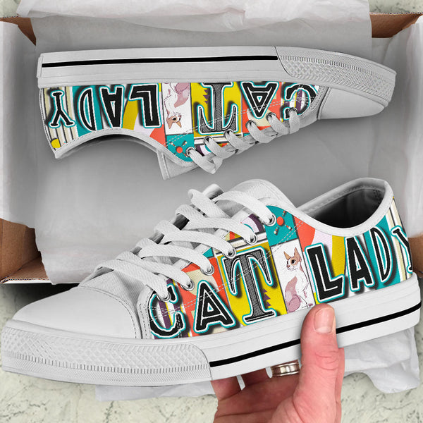 Vintage Cat Lady Low Top Shoe image 2