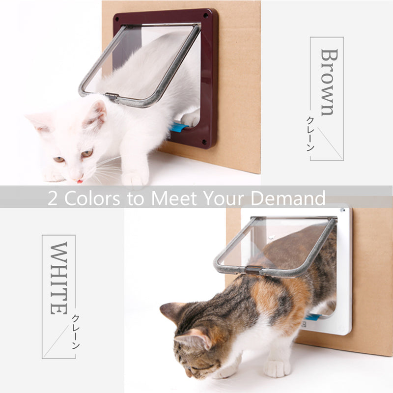 Safety and Flexible Cat Gates - Brown and White Colour