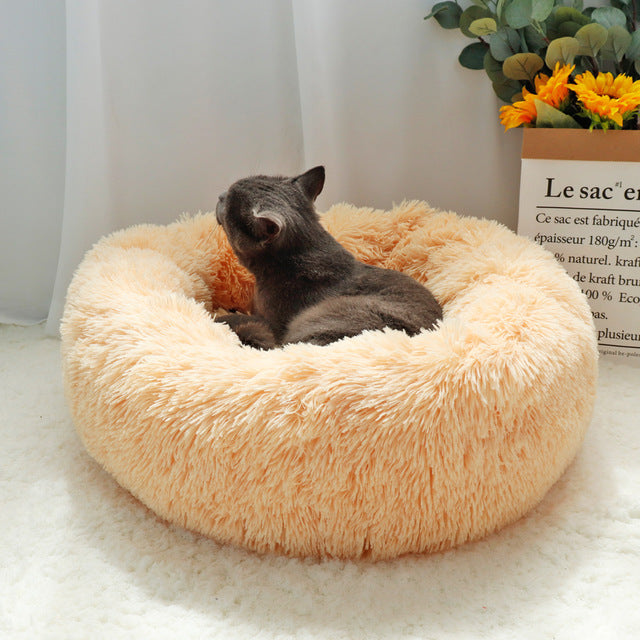 High Quality Round Cat Bed - Beige Colour