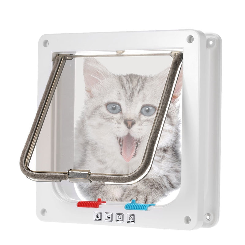 Safety and Flexible Cat Gates - White Colour with Cat