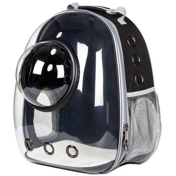 New Transparent Astronaut Cat Carrier - Black Colour