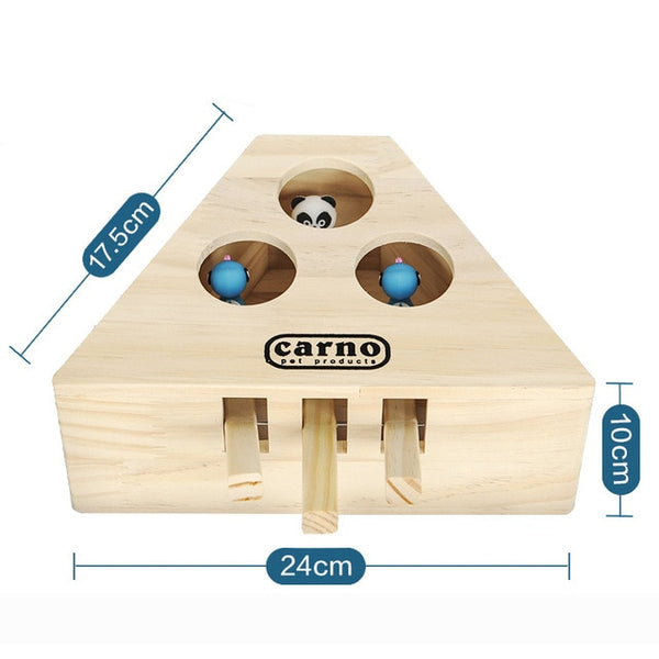 Interactive Wood Cat Toy - Type 1