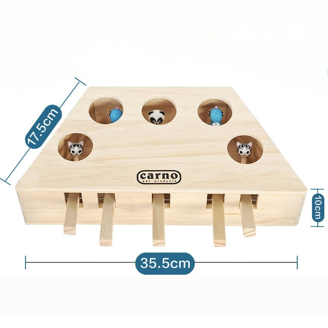 Interactive Wood Cat Toy - Type 2