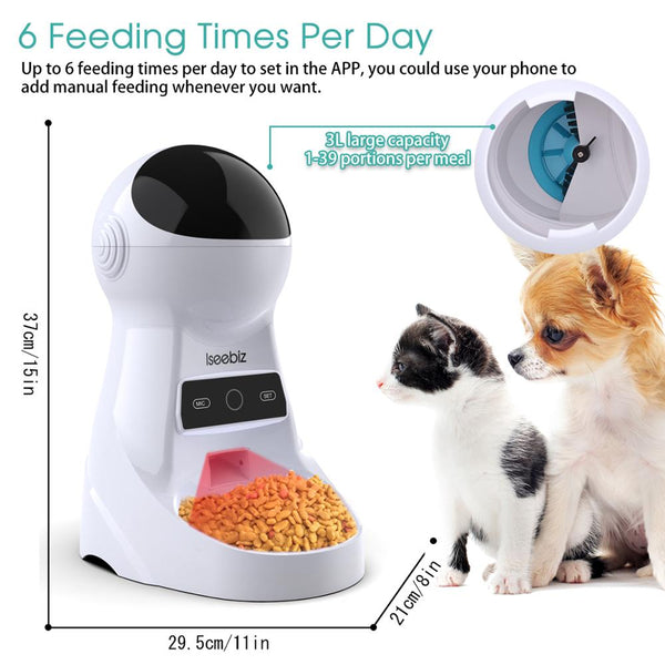 Smart Wi-Fi Automatic Cat Feeder - Image 1