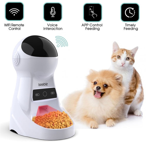 Smart Wi-Fi Automatic Cat Feeder - with Cat and Dog