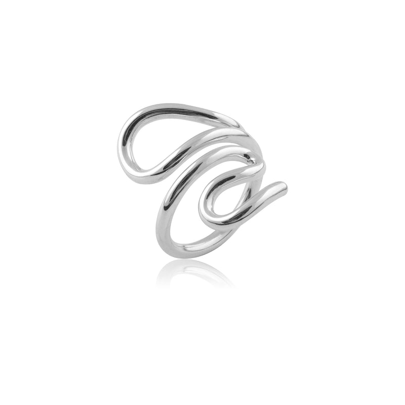 LOOPY RING SILVER
