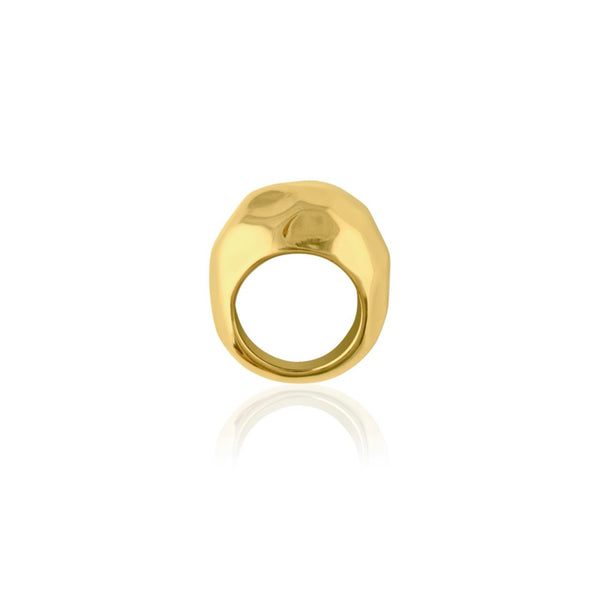 HAMMERED RING GULD