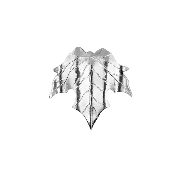 LEAF BROOCH SILVER