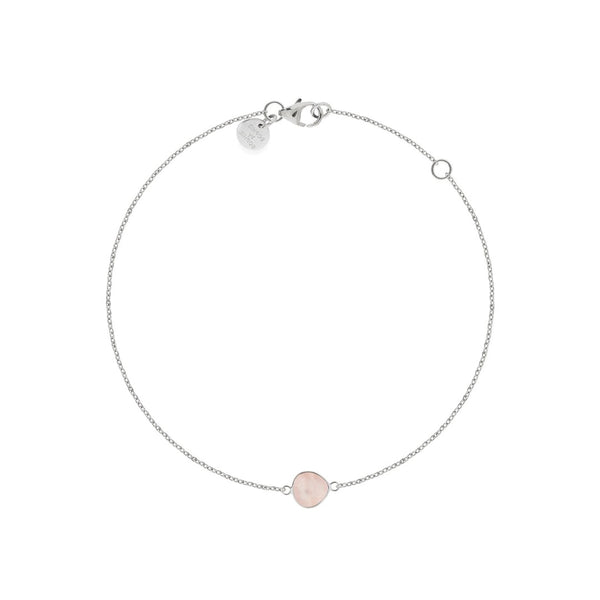 ONE STONE ARMBAND SILVER