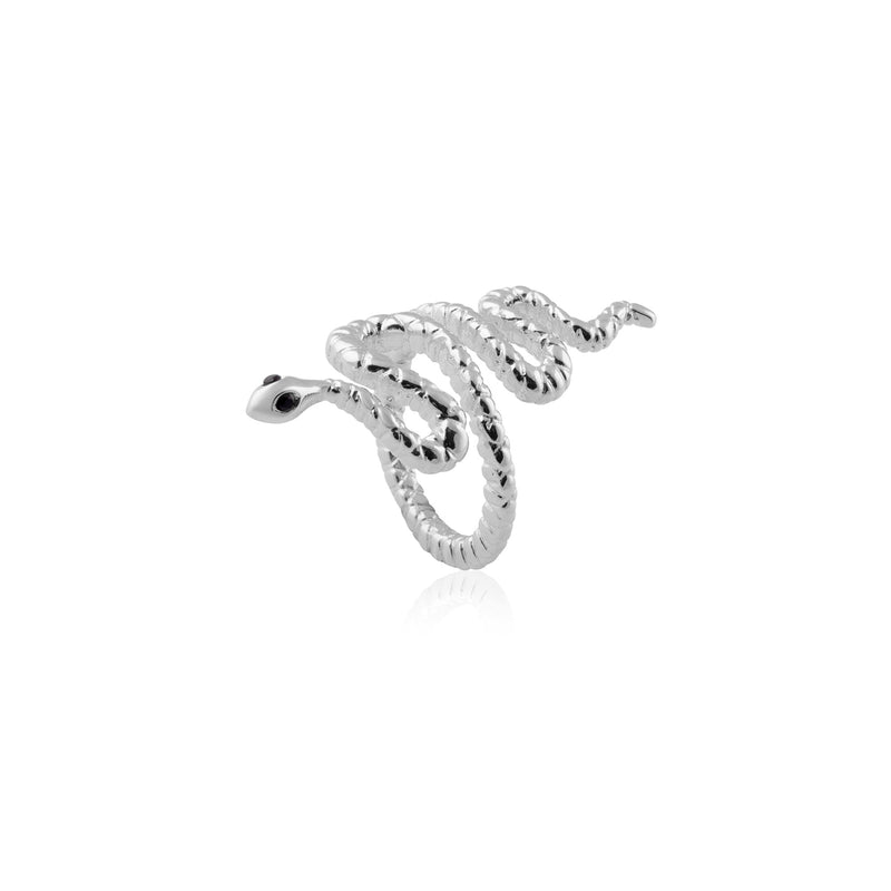 SNAKE RING SILVER L