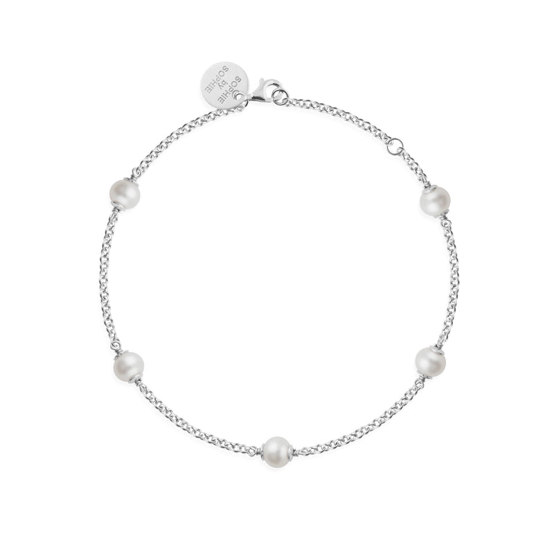 FUNKY PEARL ARMBAND SILVER