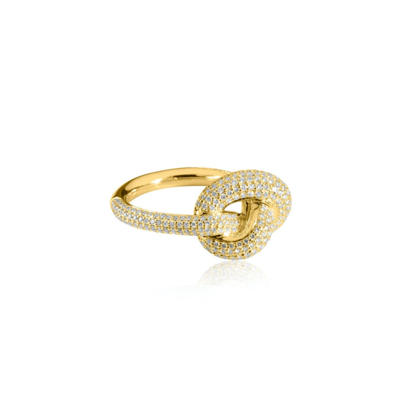THE KNOT 18K GULD GIANT RING DIAMANTER