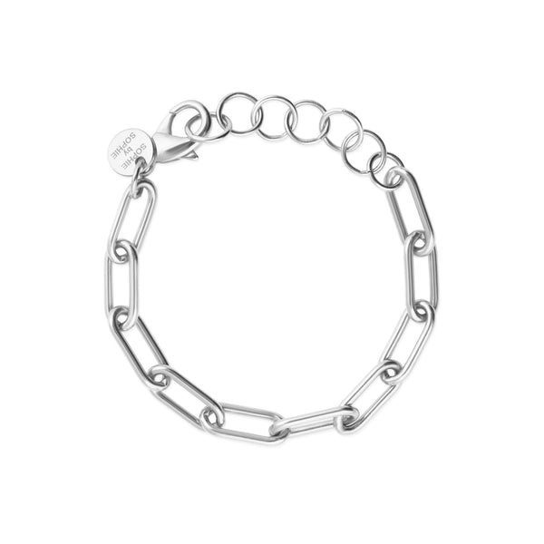 LINK CHAIN ARMBAND SILVER