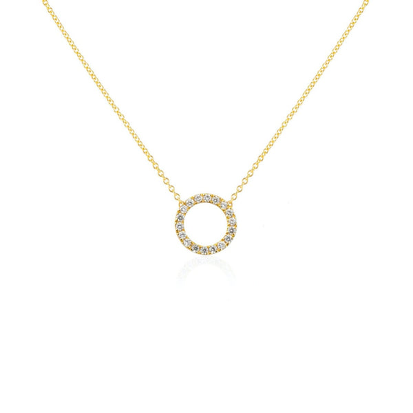 CIRCLE MINI DIAMANT HALSBAND 18K GULD