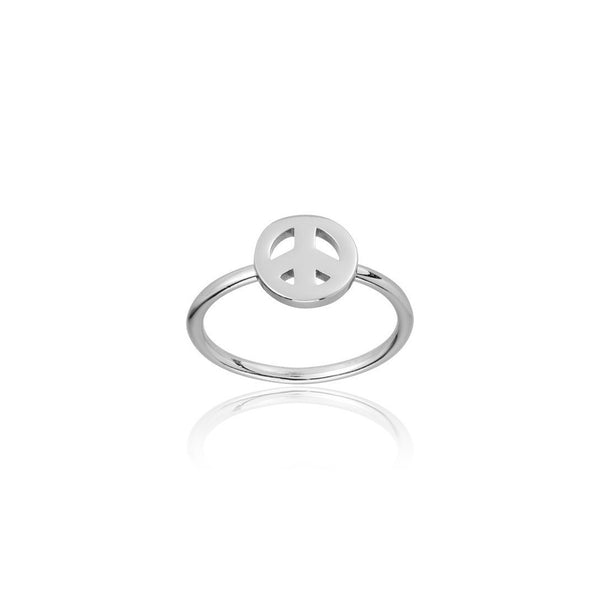 PEACE RING SILVER