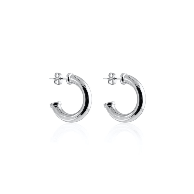 PLATE CHUNKY HOOPS SILVER S