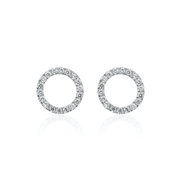 CIRCLE MINI DIAMANT EARRINGS
