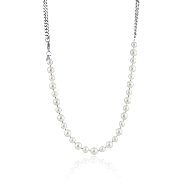 PEARL CHAIN HALSBAND SILVER