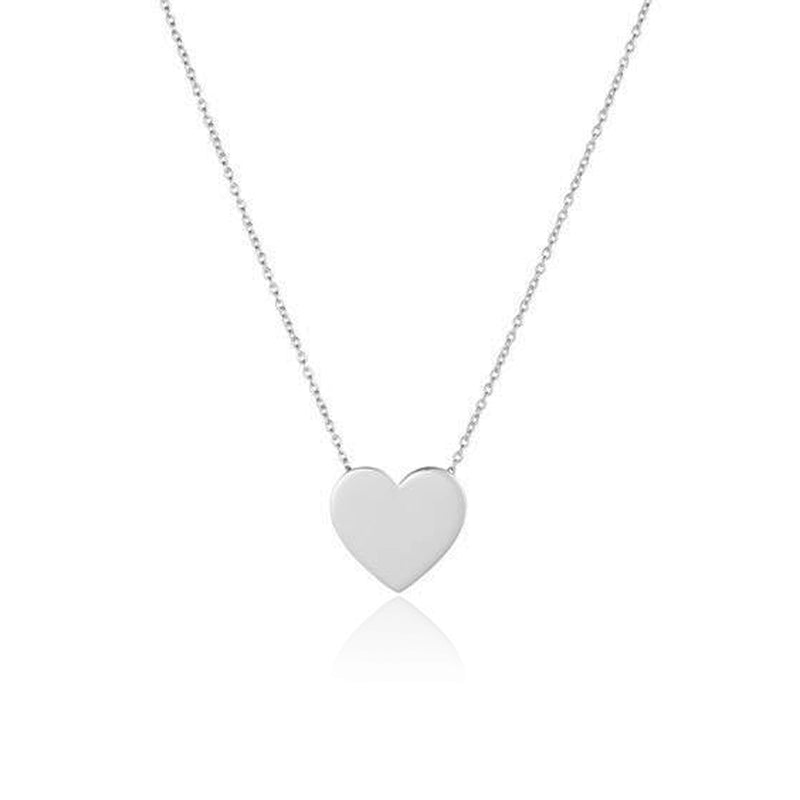 HEART LARGE HALSBAND SILVER