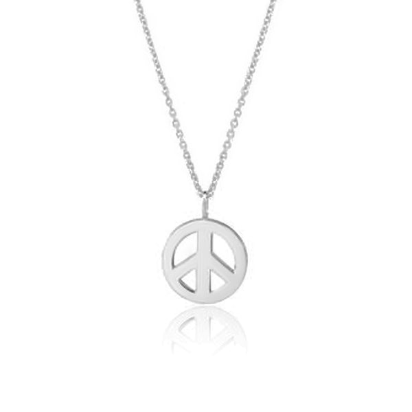 PEACE LARGE HALSBAND SILVER
