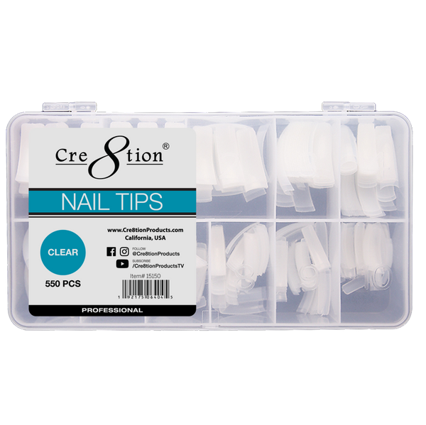 15150 - CRE8TION NAIL TIPS 550/pcs (CLEAR)