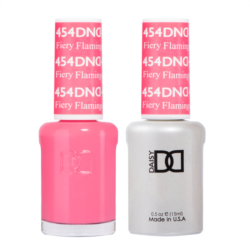DND454 - DND SOAK OFF GEL 0.5OZ - FIERY FLAMINGO