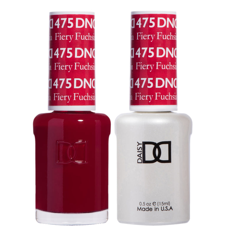DND475 - DND SOAK OFF GEL 0.5OZ - FIERY FUCHSIA